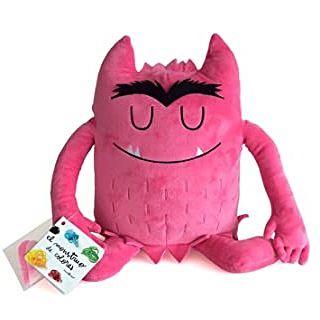 El monstruo de colores, peluche rosa